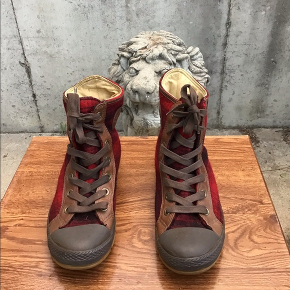 Converse Other - Converse X Woolrich High-Top Lace-Up Sneakers